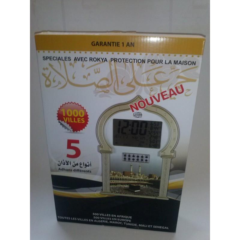 Horloge adhan horloge horaires de pri res azan family muslim - Horaire priere gennevilliers ...